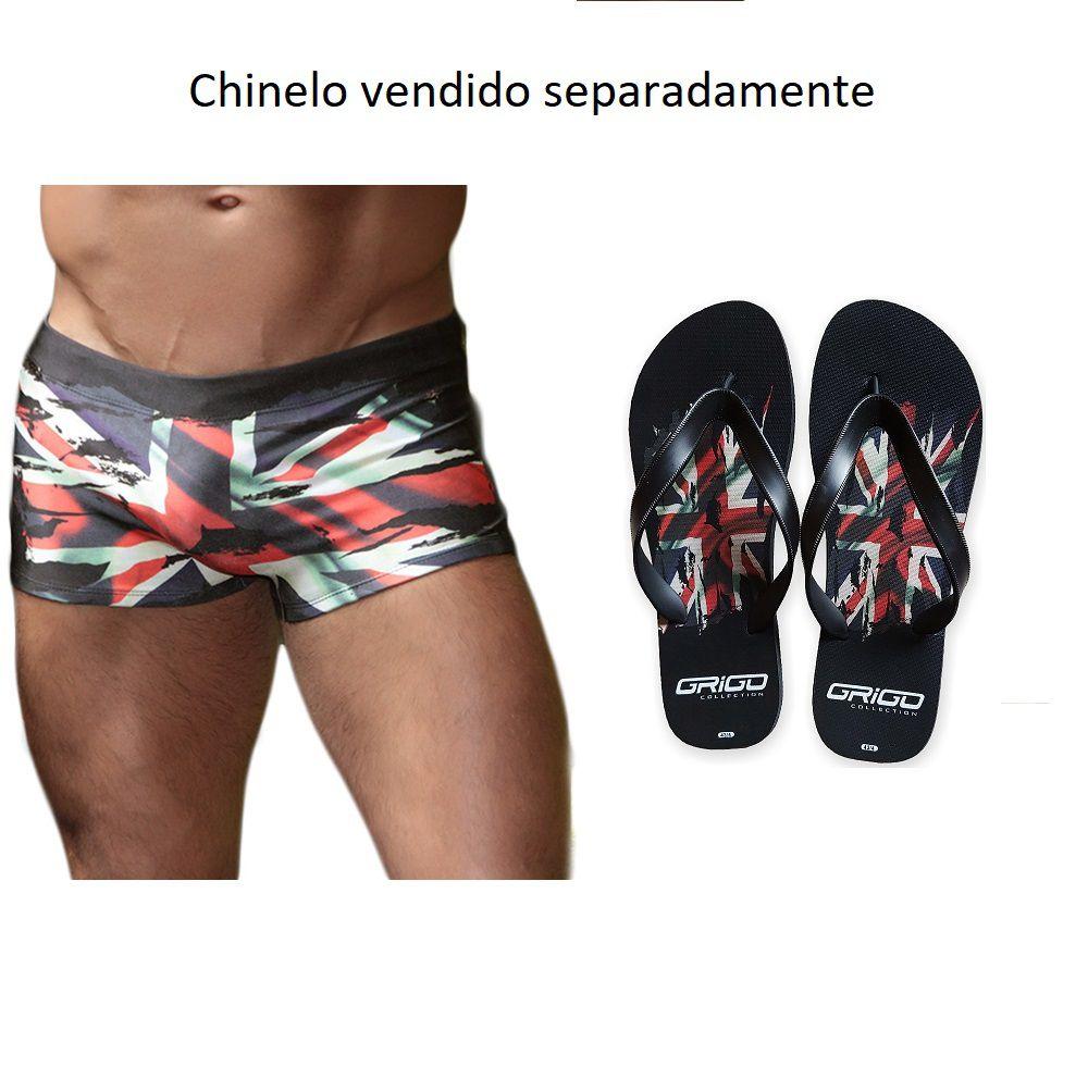 Sunga Boxer Grigo Collection England com bolso