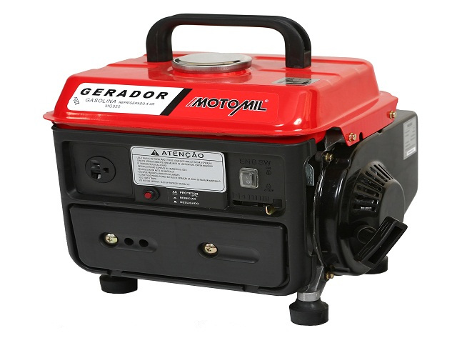 REEMBALADO: Gerador 0.8 KVA Monofásico a Gasolina 1.5 HP MG950 Motomil