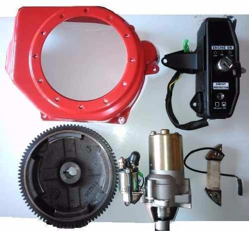 Kit Partida Elétrica Motor A Gasolina 4.0 A 13.0 Hp Todas Marcas (FAÇA VOCÊ MESMO)