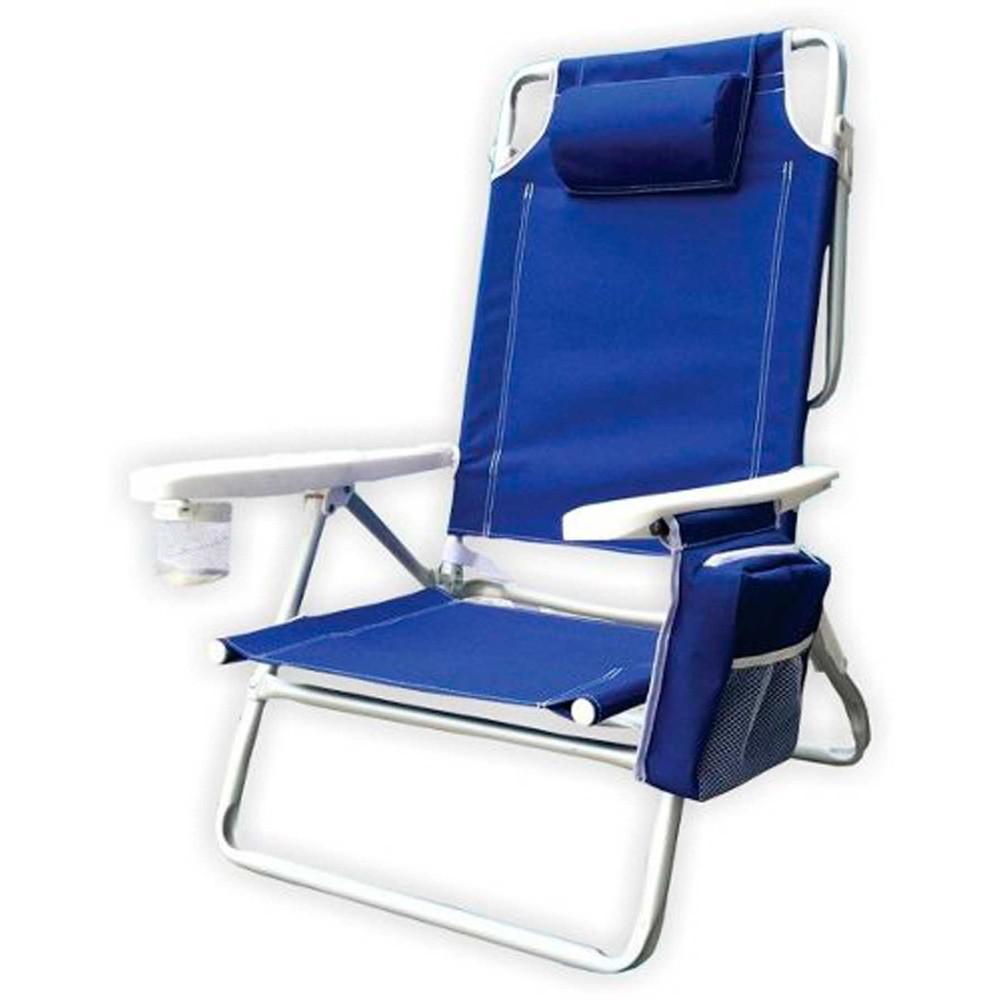 Cadeira Praia Camping Dobrável Reclinável Bolsa Térmica Kala