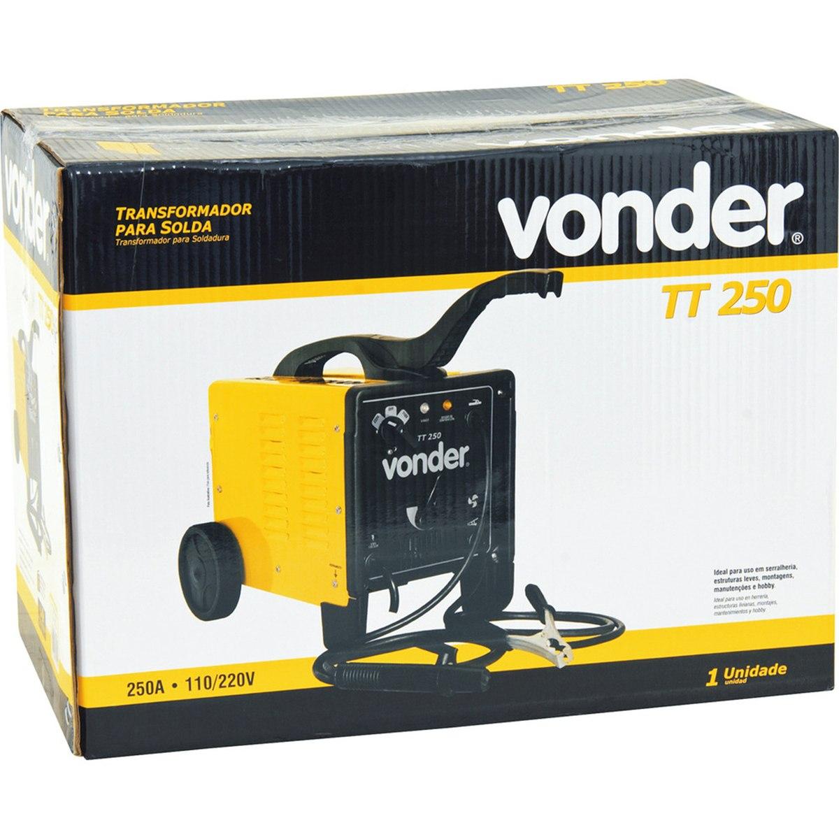 Transformador de Solda 250A Bivolt 127/220V TT2500 Vonder