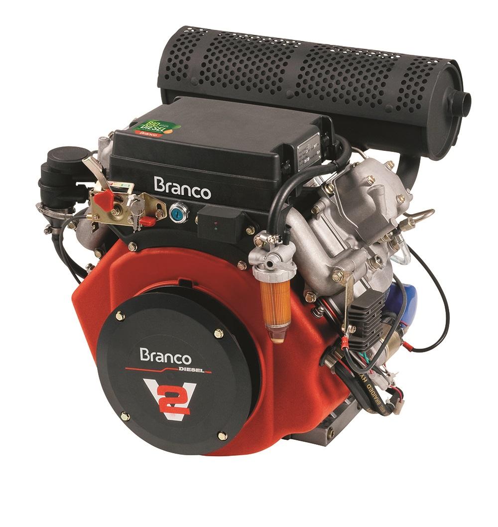 Motor Diesel/Bio Diesel 22.0 HP Branco Partida Elétrica