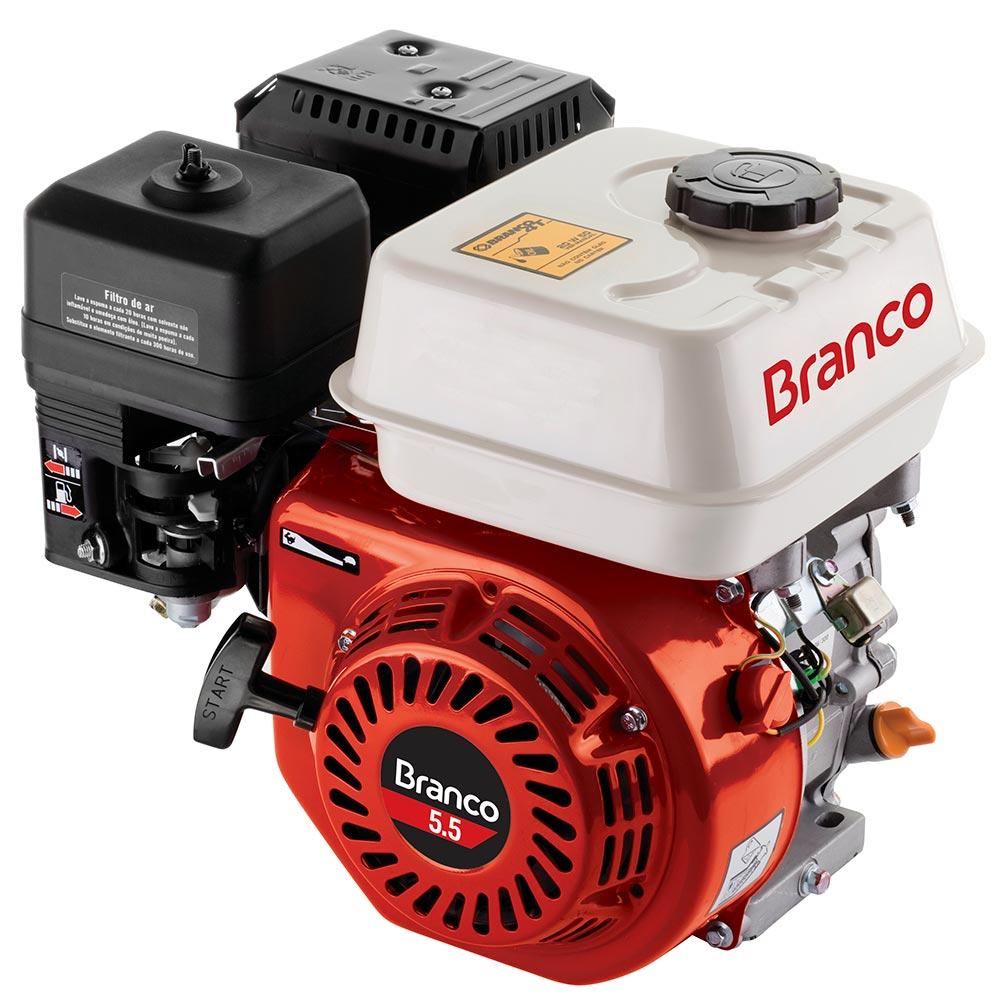 Motor 4 Tempos Gasolina 5.5HP Partida Manual S/ Sensor Óleo Branco