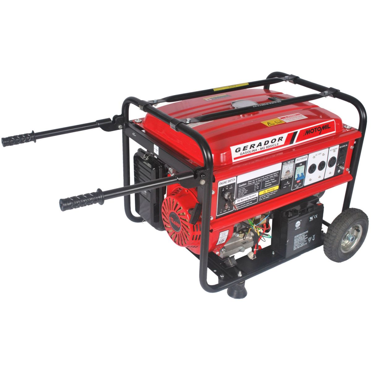 REEMBALADO: Gerador a Gasolina 4 Tempos 8000W MGT - 8000CLE - Motomil