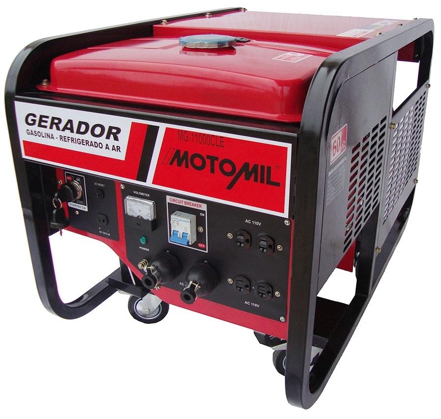 REEMBALADO: Gerador a Gasolina Trifásico 380V 11KVA 4T MGT11000CLE - MOTOMIL