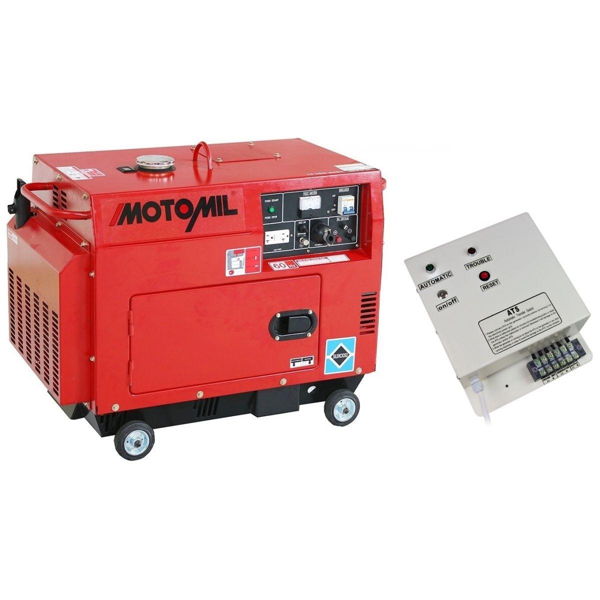 Gerador à Diesel Silenciado MDG-5000ATS 5Kva 127/220V Monofásico Motomil