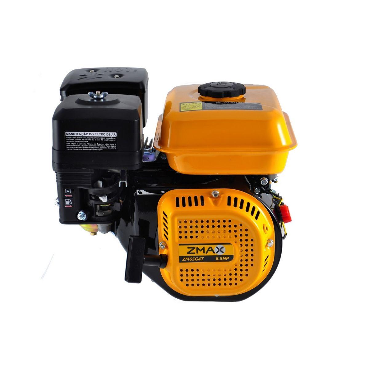 Motor Estacionário a Gasolina 6.5CV 4 Tempos Partida Manual Zmax