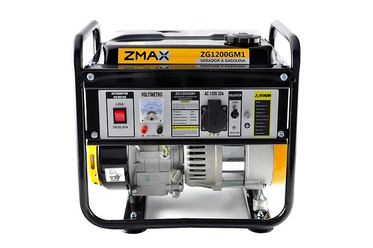 Gerador a Gasolina 4 Tempos ZG1200M1 0.9KVA 127V Zmax