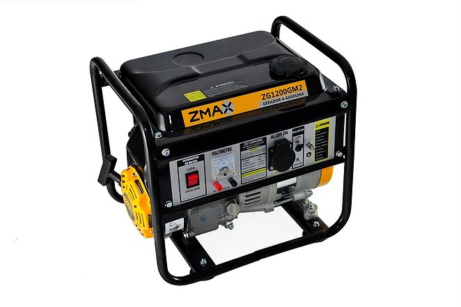 Gerador a Gasolina 4 Tempos ZG1200M2 0.9KVA 220V Zmax