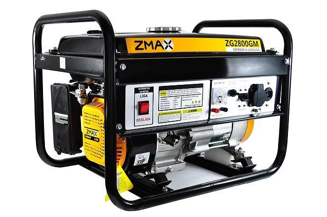 Gerador a Gasolina 4 Tempos ZG2800GM 2.5KVA 127V/220V Zmax