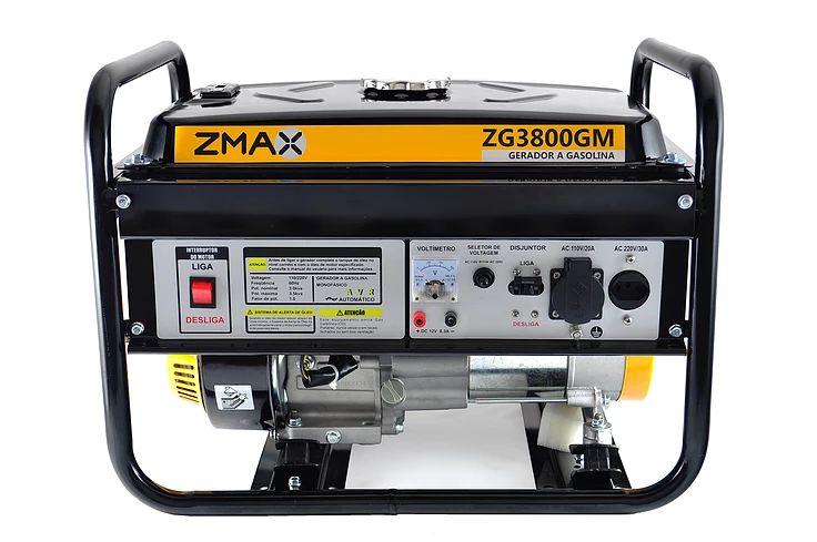 Gerador a Gasolina 4 Tempos ZG3800GM 3.5KVA 127V/220V Zmax