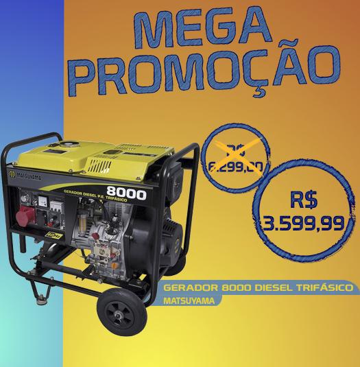 Gerador 8000 Diesel