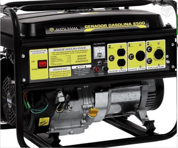 Gerador 5.5 KVA Monofásico a Gasolina Matsuyama 6500 Partida Elétrica