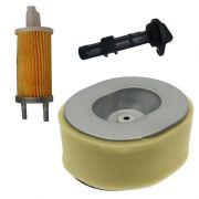 Kit Filtro de Ar + Filtro Combustível + Filtro de Óleo Para Geradores e Motores Diesel 7/10/13HP