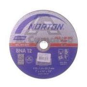 "Disco de Corte para Aço Inox e Ferro Duro de 12"" Norton"