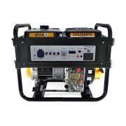 Gerador a Diesel ZG6300DTE 5.5KVA Trifásico 127V/220V Partida Elétrica Zmax