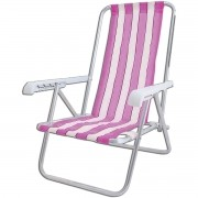 Cadeira de Praia 4 Posições Alumínio Kala