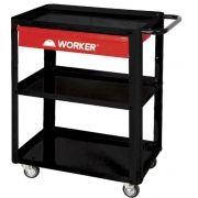 Carrinho Para Oficina Com Chapas Reforçadas e Gaveta Worker