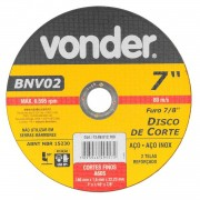 Disco de Corte 180mm para Aço BNV02 Vonder