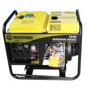 Gerador 2500 Monofásico a Diesel Partida Manual Matsuyama