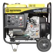 Gerador 6500 Diesel Bifásico 110/220V Partida Elétrica Matsuyama