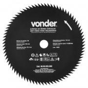 Lâmina Circular Para Roçadeira 80 Dentes 255mm Vonder