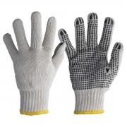 Luva Tricotada de Malha Branca Pigmentada 3 Fios Tamanho 9 (G) Worker
