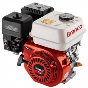 Motor 4 Tempos Gasolina 5.5HP Partida Manual C/ Sensor Óleo Branco