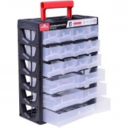 Organizador Plástico 17 Gavetas 31,5X14X38,5Cm Worker