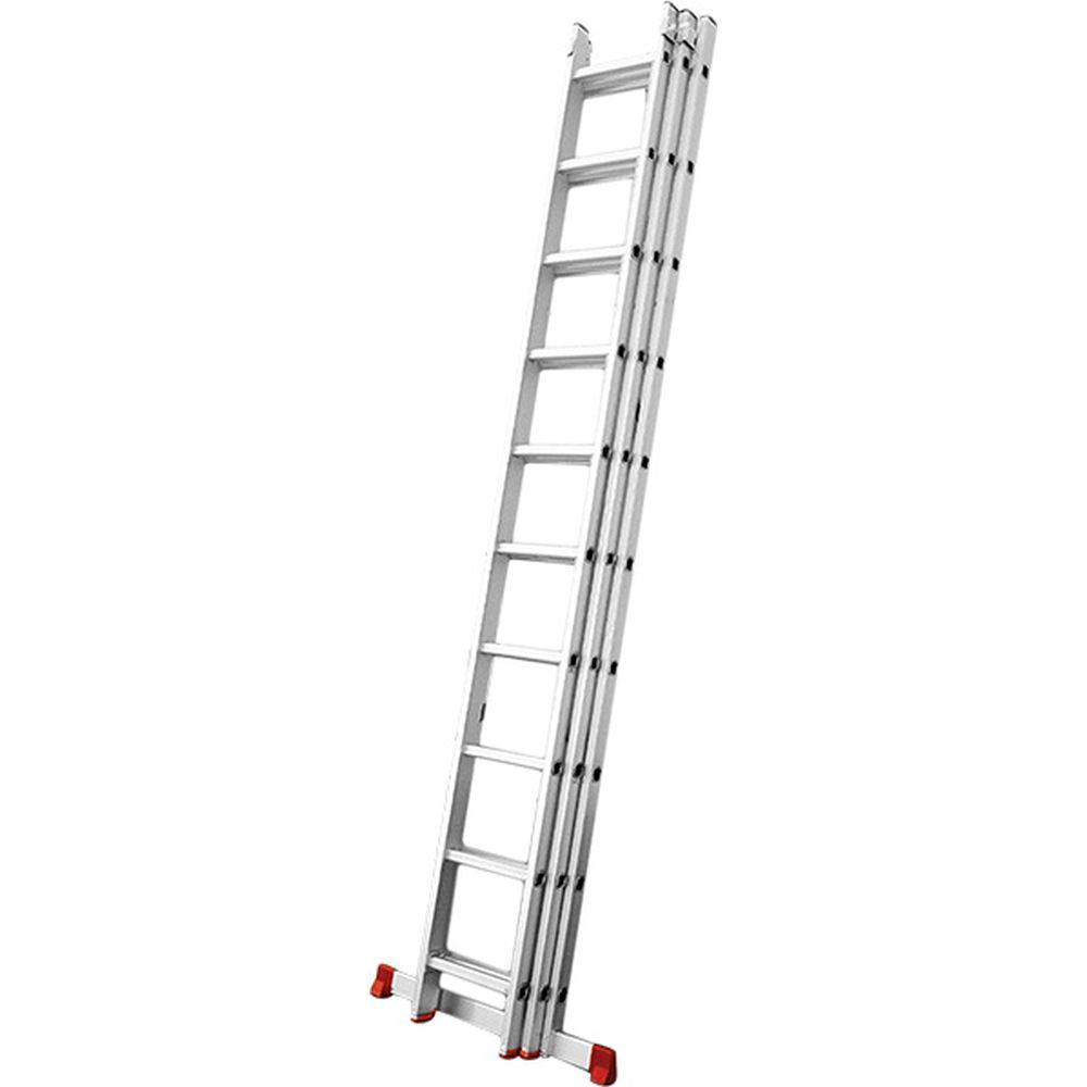 Escada de Alumínio Extensível Tripla 3X6 18 Degraus - Worker
