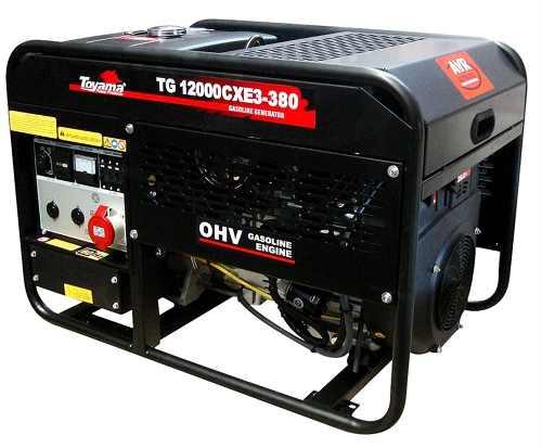 Gerador a Gasolina Partida Elétrica 4Tempos 12KVA Trifásico 380V Toyama