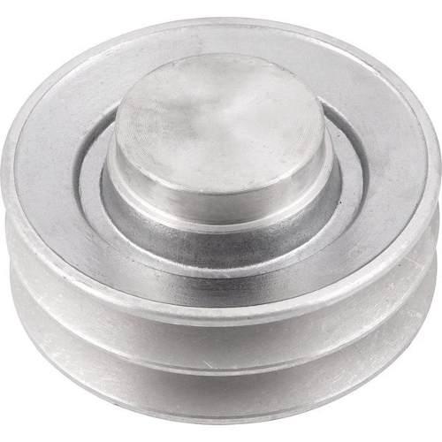 Polia Em Aluminio 2 Canais - A - 100mm Diametro Externo