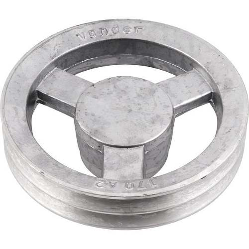 Polia Em Aluminio 2 Canais - A - 70mm Diametro Externo
