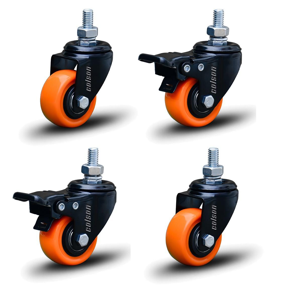 4 Roda Rodinha Black Parafuso 3/8 Geladeira Móveis 50mm 200kg