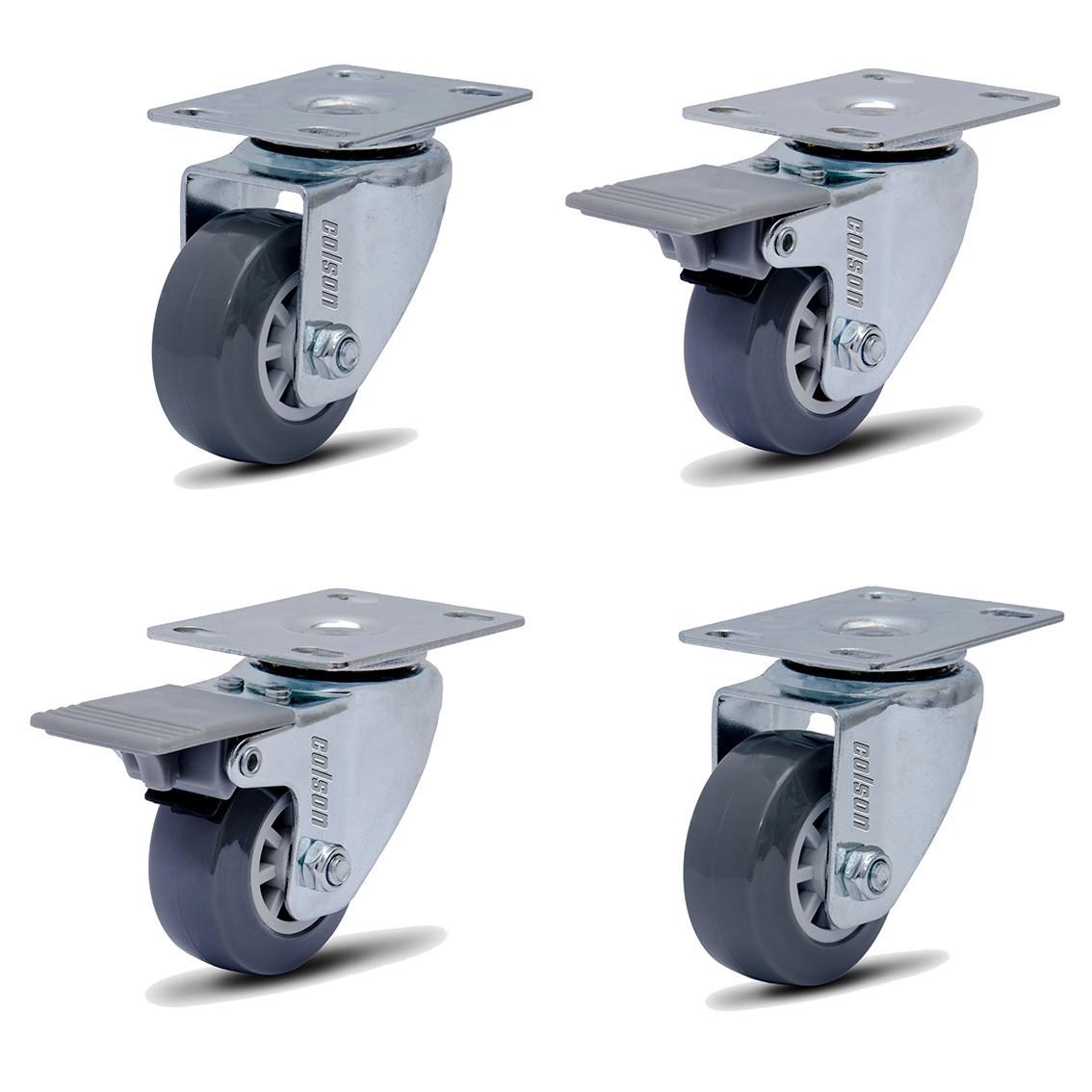 4 Rodinha Giratória Rodízio Roda Giratório 50mm 180kg