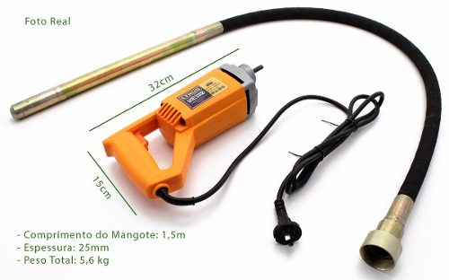 Vibrador de Concreto 1500W com Mangote LMP-1500 Lynus