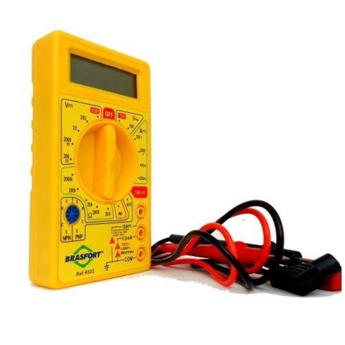 Multímetro Digital Multiteste Profissional com Bateria 9V Brasfort