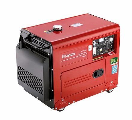 Gerador Bifásico 127/220V a Diesel 10 HP BD-6500 Silenciado Branco