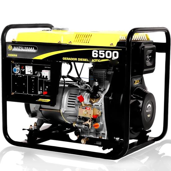 Gerador 5.3 KVA Monofásico a Diesel Matsuyama 6500 Partida Manual (Usado)
