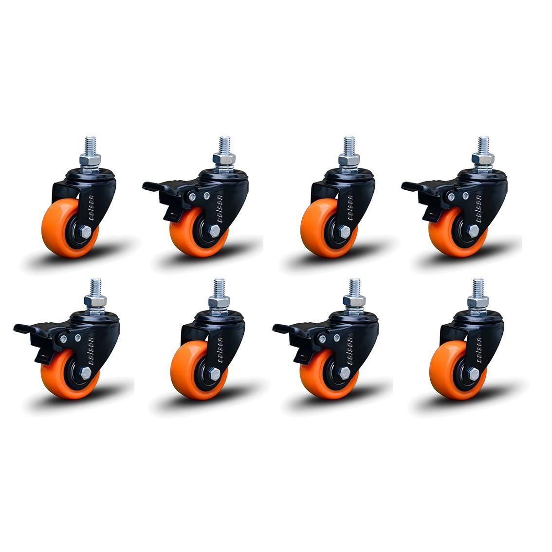 8 Roda Rodinha Black Parafuso 3/8 Geladeira Móveis 50mm 400kg