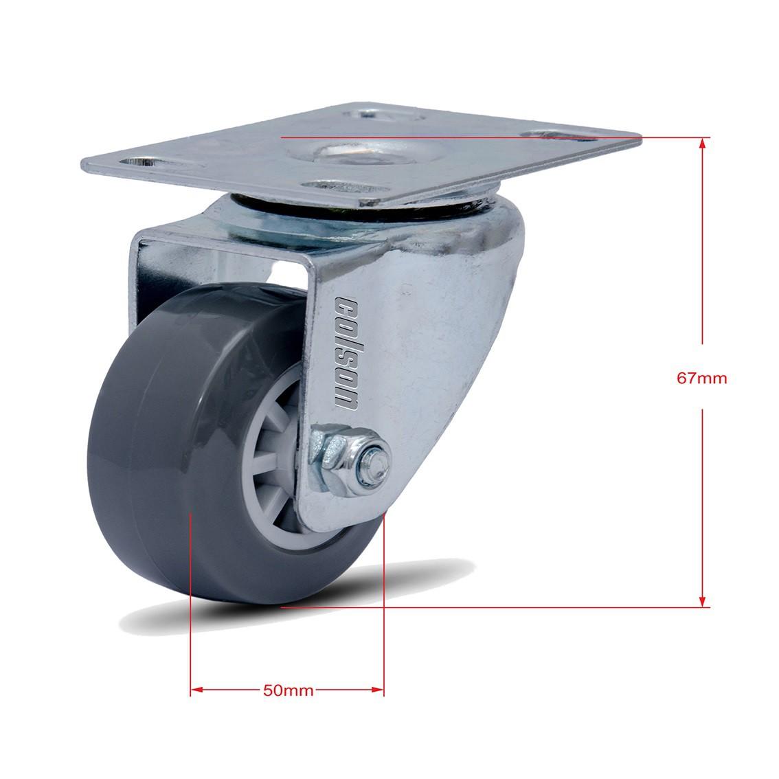 8 Rodinha Giratória Rodízio Roda Giratório 50mm 360kg
