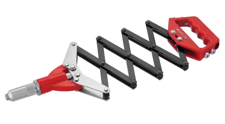 Alicate Rebitador Sanfona com 5 Bicos Para Rebites até 6,4mm Worker