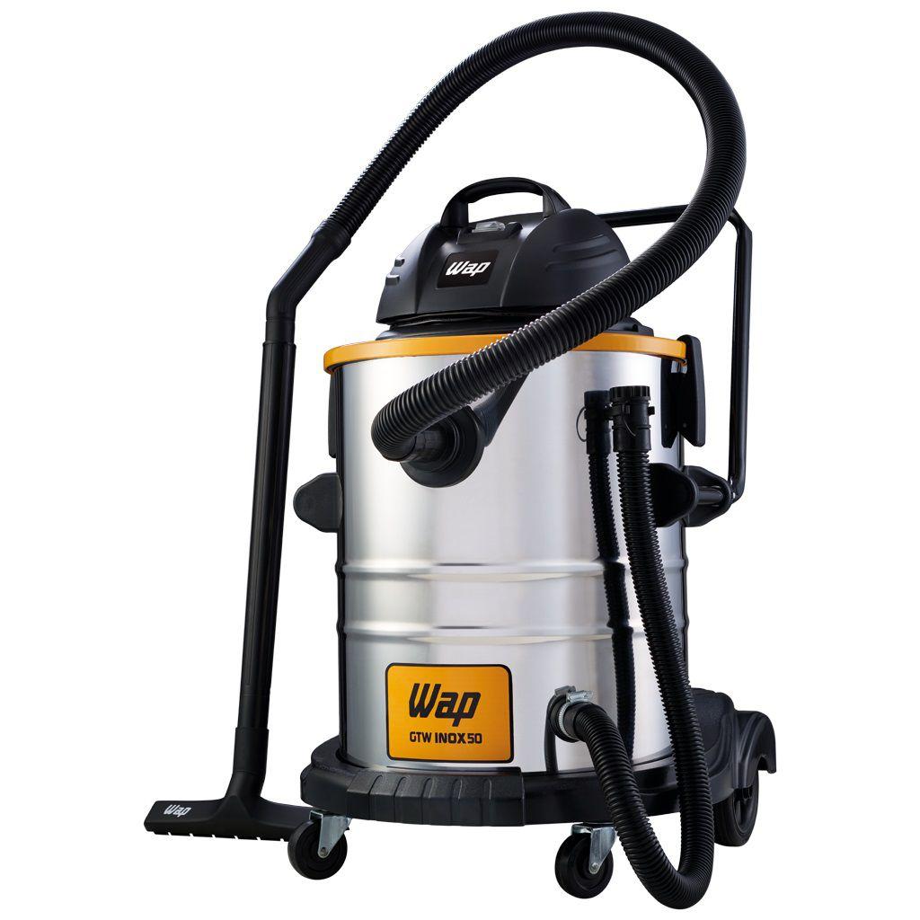 Aspirador Água e Pó Pro Inox 50L 127 ou 220V 1600W Wap