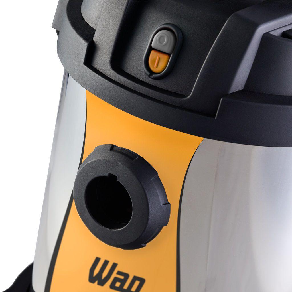 Aspirador de Água e Pó Inox 1400W Profissional Wap