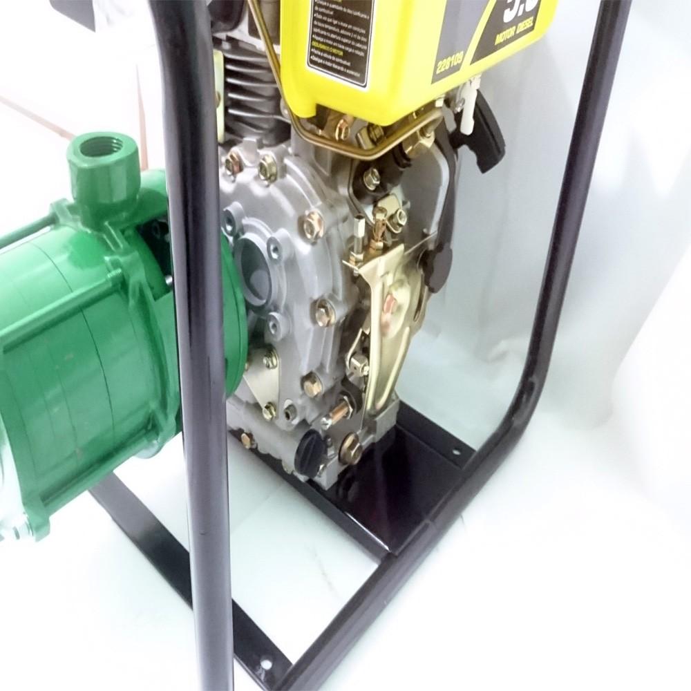 Motobomba Diesel Partida Manual 5hp 4 Estágios Alta Presão Irrigação