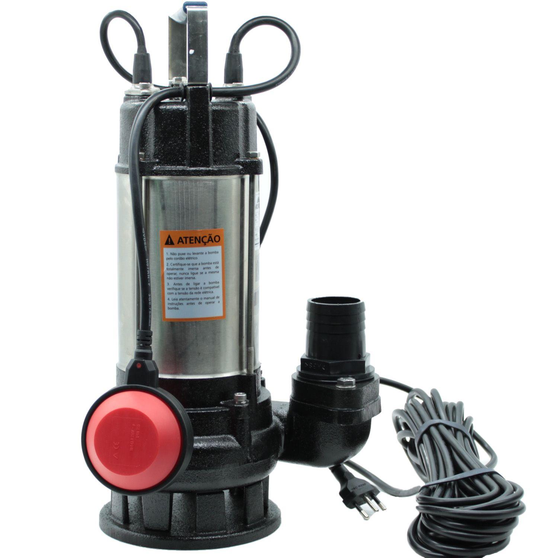 Bomba Submersível Àgua Suja Limpa Fossa Gordura 3/4HP Worker