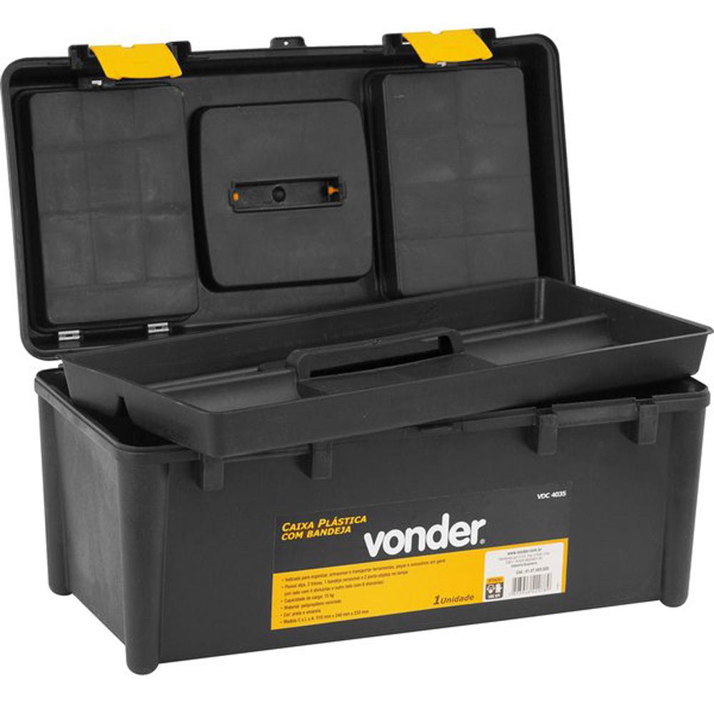 Caixa de Plástico com 1 Bandeja VDC4035  Vonder