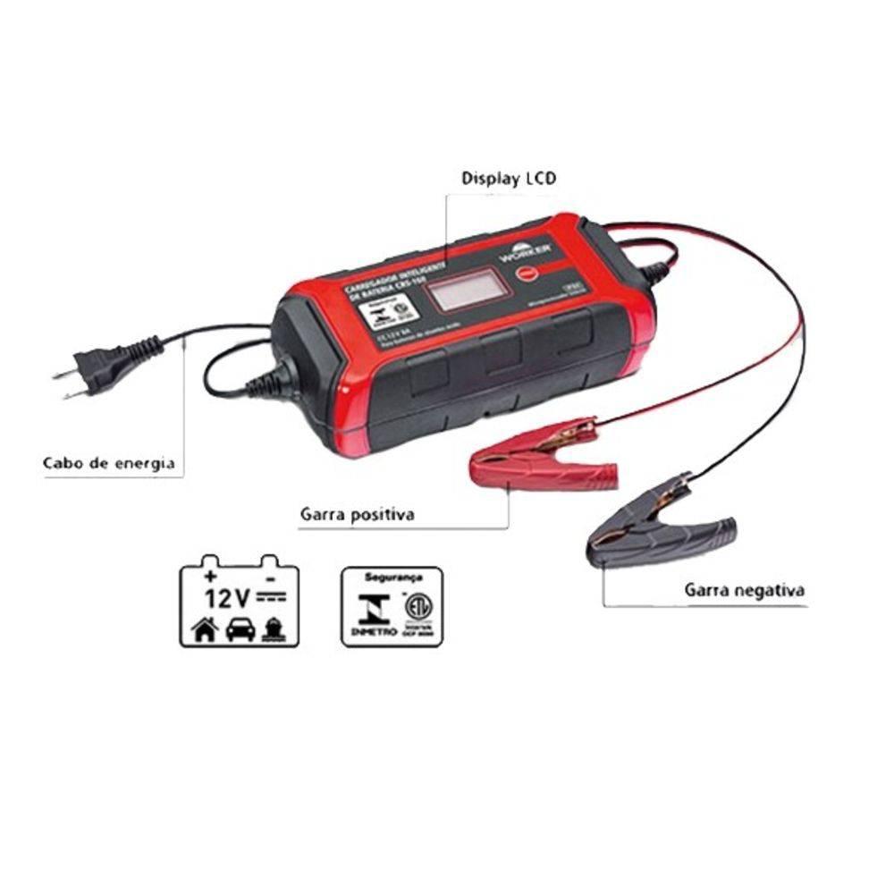 Carregador de Baterias 12V Inteligente CBS-160 Worker