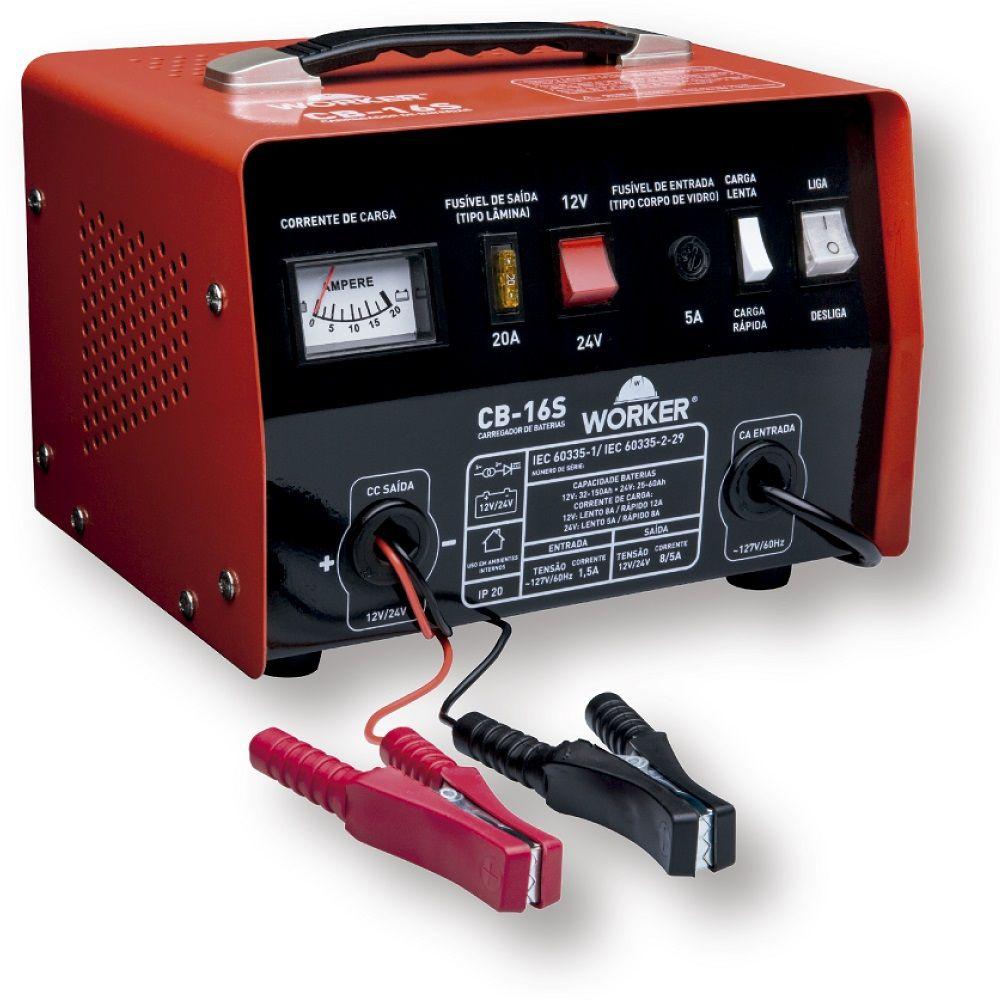 Carregador de Baterias Até 150A CB16S 127V Worker
