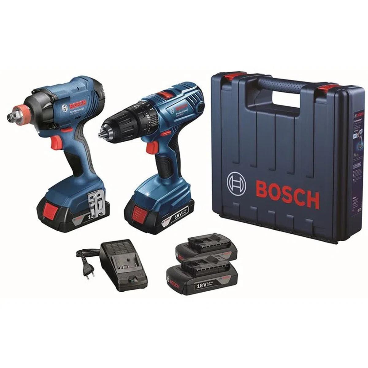 Combo Furadeira GSB com Chave de Impacto GDX 180-LI Bosch